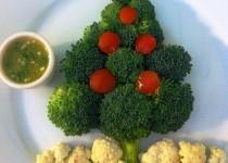 Pinzimonio di verdure Christmas style