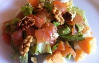 Ricetta Brunch - Insalata salmone e avocado