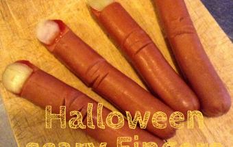 Dita spaventose per Halloween antipasti veloci caldi