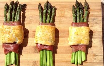 ltini di asparagi, prosciutto e pasta sfoglia